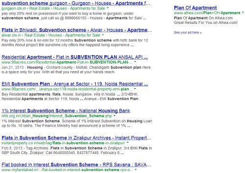 Subvention Scheme Search on Google