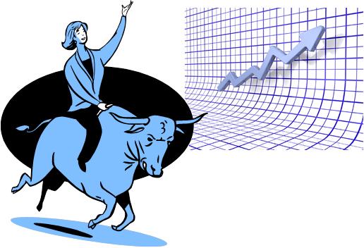 Bull Pushing Shares Up