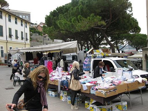 Market in Portovenere Italy